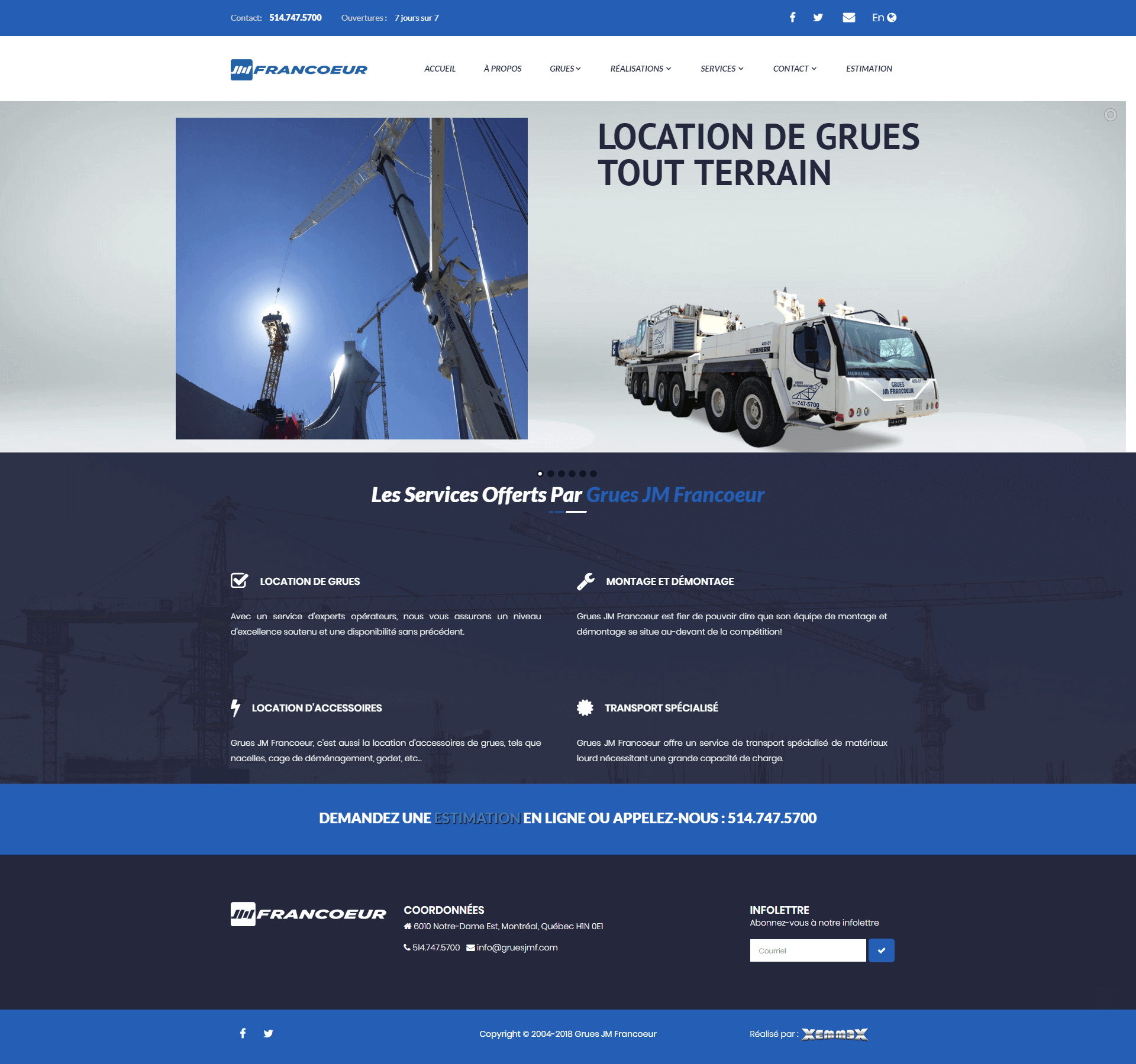 Website Cranes JM Francoeur